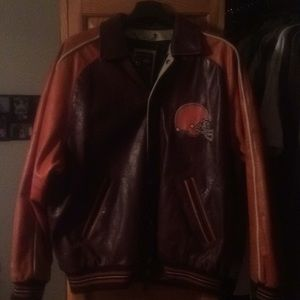 Awesome Cleveland Browns All Leather Jacket